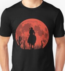 Camiseta unisex CAMISETA RED DEAL REDEMPTION 2 - RED MOON COWBOY