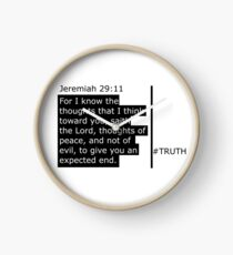 Jeremiah 29:11 Scripture 3.0 range  Clock