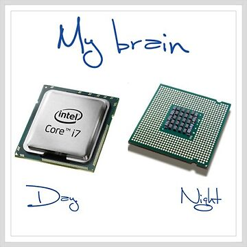 New chip old chip brain  by Keywebco