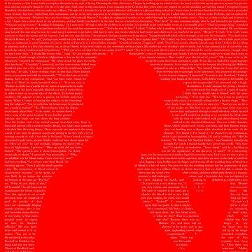 Sherlock Holmes Textcoration (white text) by frikybomb
