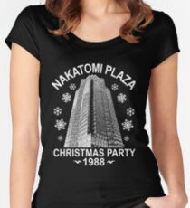 NAKATOMI PLAZA CHRISTMAS PARTY 1988  T-SHIRT Women's Fitted Scoop T-Shirt
