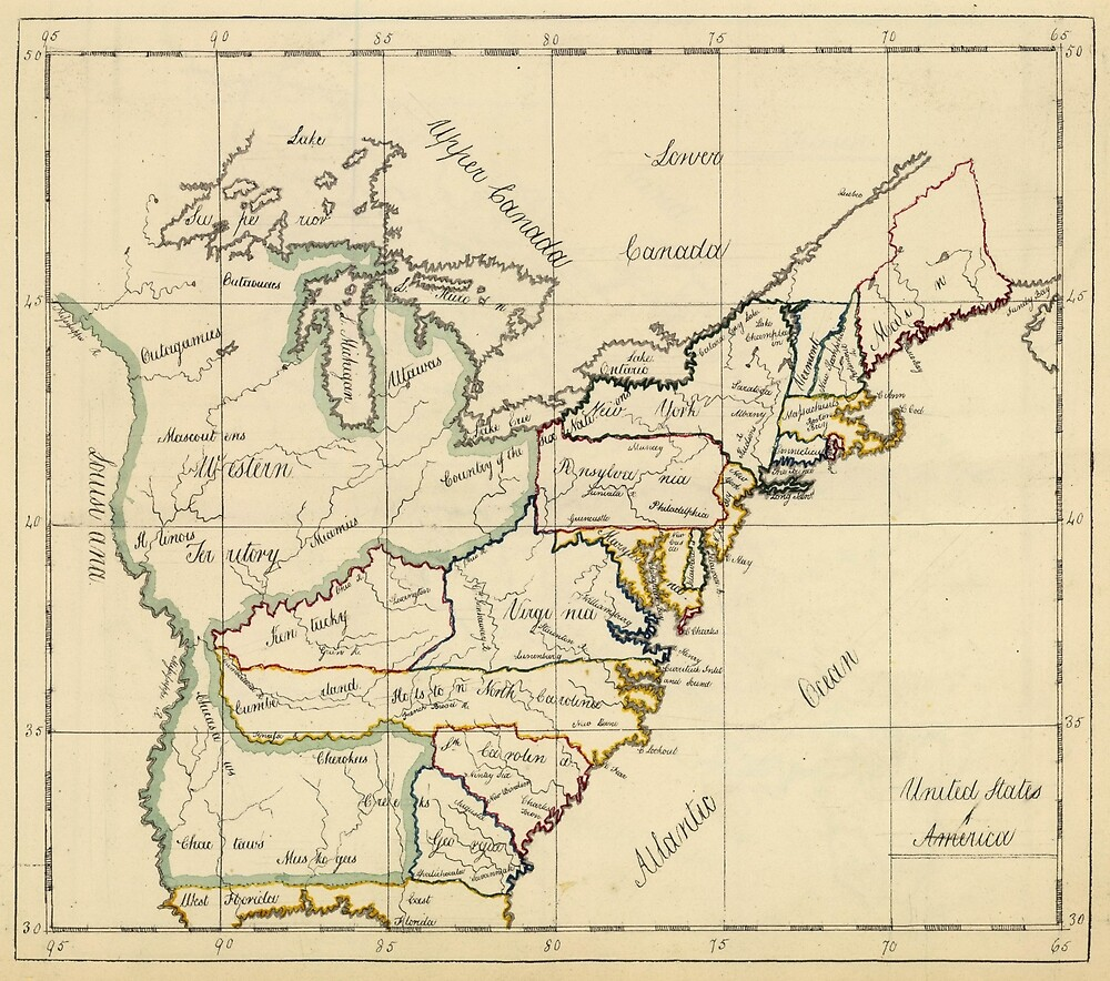 Vintage Map of The United States (1810)