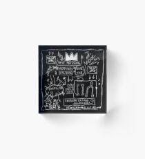 JEAN MICHEL BASQUIAT BEAT BOP ALBUM FAN ART. Acrylic Block