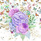Rosebuds and Butterflies by purplesensation