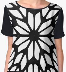 #pattern #abstract #design #shape #art #steel #illustration #decoration #futuristic #repetition #vertical #textured #geometricshape #backgrounds #ironmetal #nopeople #seamlesspattern #durability Chiffon Top
