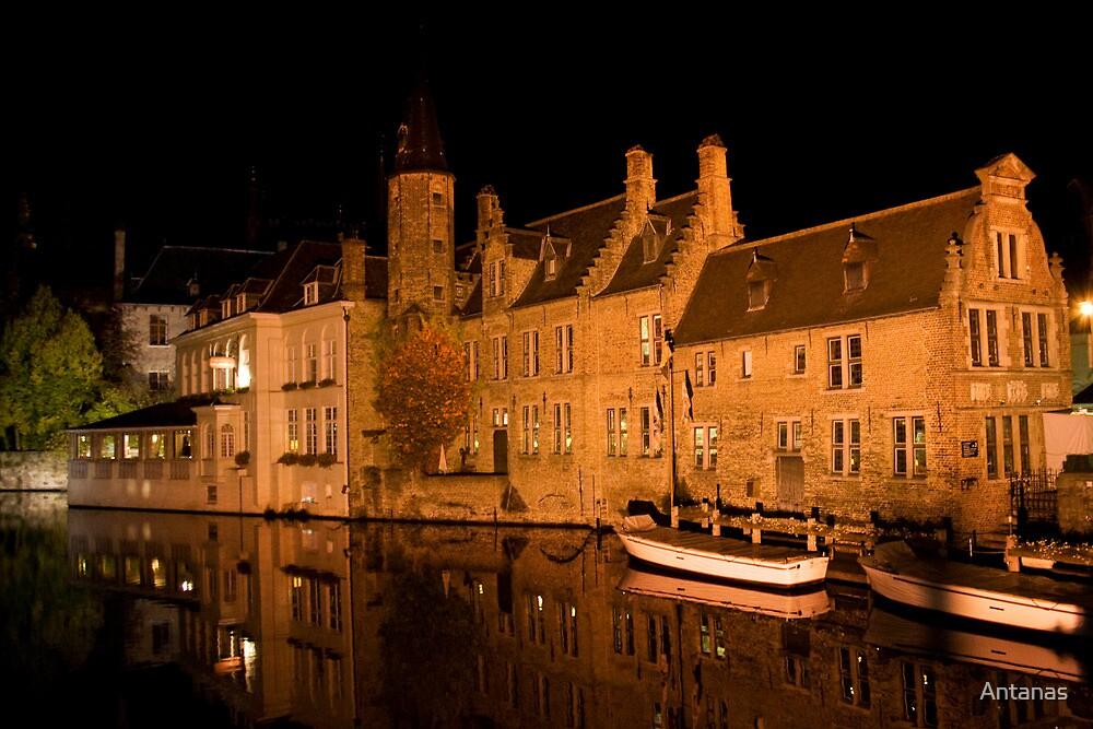 Canal in Brugge (Belgium)  by Antanas