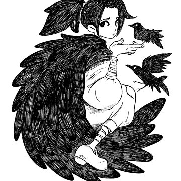 Crow Girl by exeivier