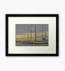 Sailing in Style Framed Print