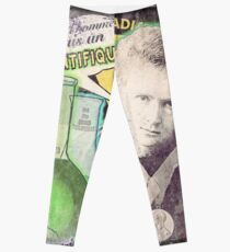 Popular Science: M. Curie (French) distressed Leggings
