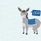 Greek Donkey Opa! by Anartsysoul