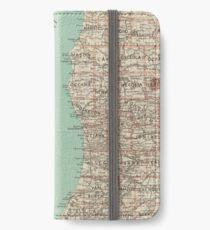 Vintage Map of Lake Michigan (1888) iPhone Wallet/Case/Skin