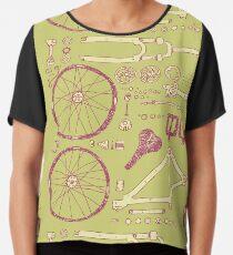 Bicycle Parts Chiffon Top