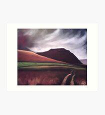 'Ingleborough - the brooding mountain' Art Print