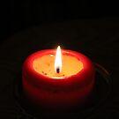 burning red by Cheryl Dunning