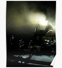 U2 on stage at Wembley Poster