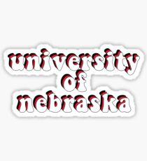 Retro University of Nebraska-Lincoln 1 Sticker