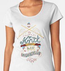 Knit Fast Die Warm Women's Premium T-Shirt