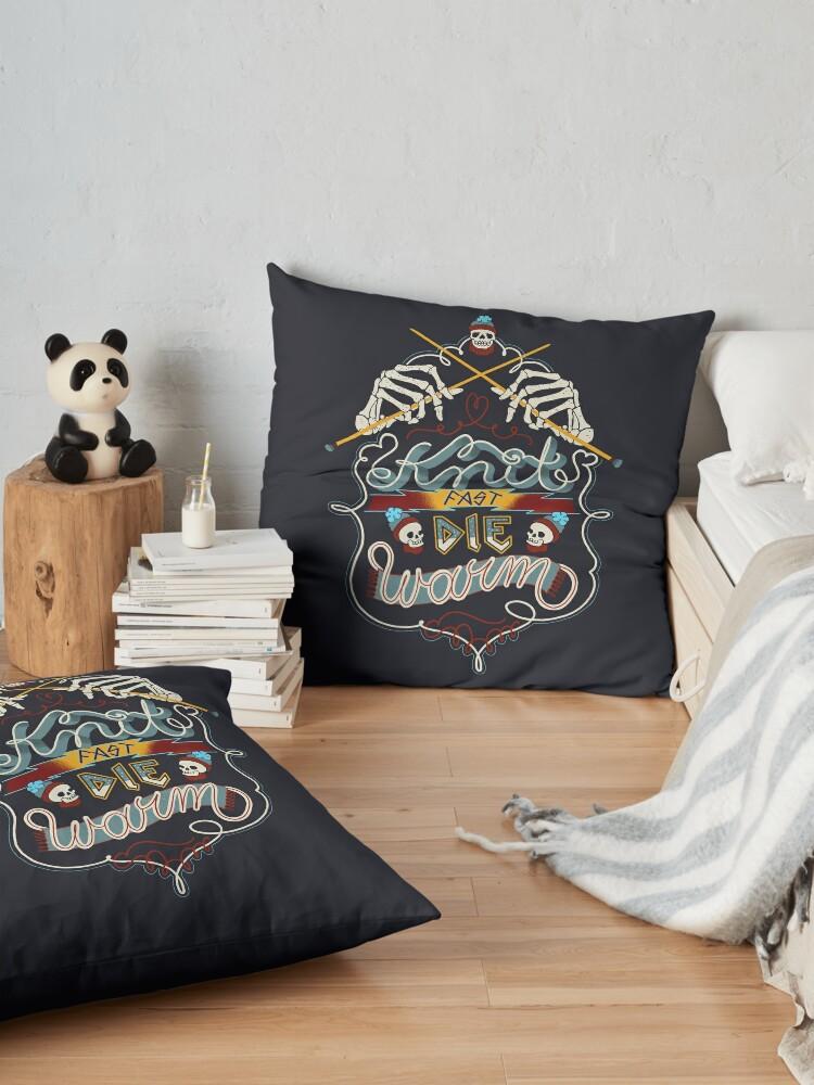 Alternate view of Knit Fast Die Warm Floor Pillow