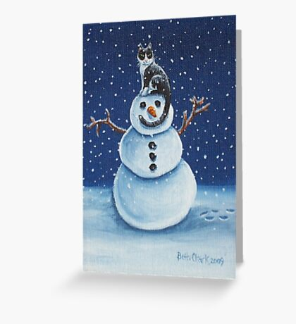 Snow Stormie Greeting Card