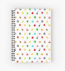 Animal Crossing Icons Spiral Notebook
