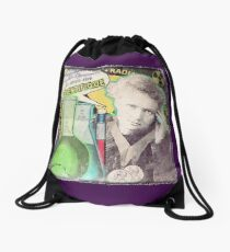 Popular Science: M. Curie (French) distressed Drawstring Bag