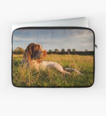 Spinone Puppy Sunset Laptop Sleeve