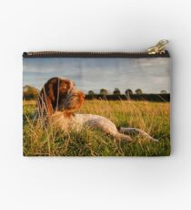 Spinone Puppy Sunset Studio Pouch