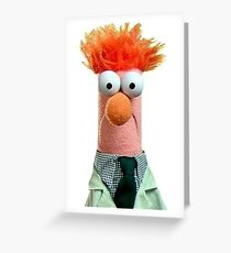 Beaker Muppet Greeting Card