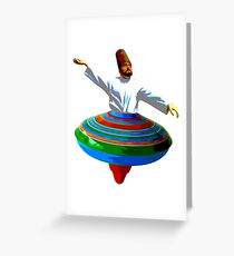 Whirling Dervish Greeting Card