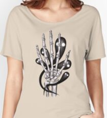 Bone hand with ghosts Women's Relaxed Fit T-Shirt
