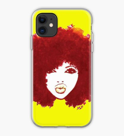 Curly Afro Autumn Proud Of Natural Hair T-Shirt iPhone Case