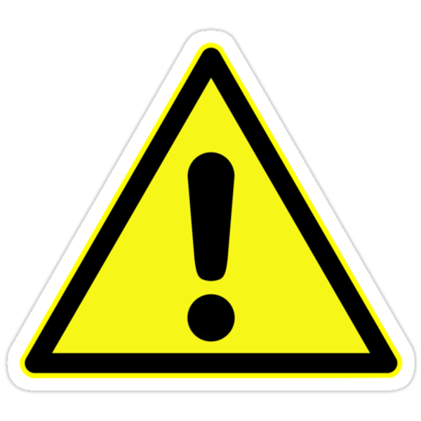 warning sign exclamation mark in yellow triangle stickers by 2m. Black Bedroom Furniture Sets. Home Design Ideas