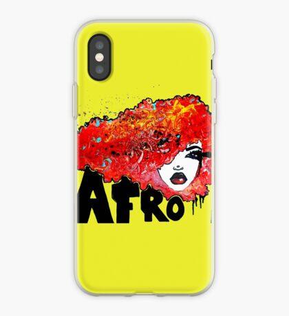 Afro-Wort-Kunst-großes Haar-Typografie Afro-Haar iPhone-Hülle & Cover