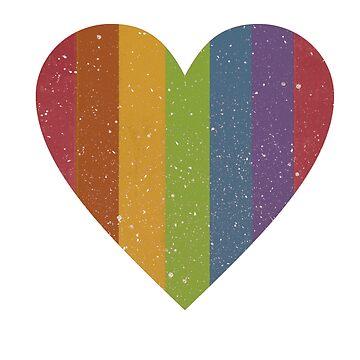 Retro rainbow heart by divafern