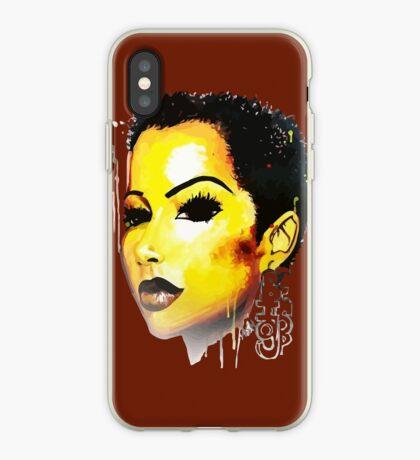 GROSSE Hieb-Reise Tshirt Afro-Haar-natürliches Haar iPhone-Hülle & Cover
