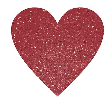 Vintage stamped heart in retro red by divafern