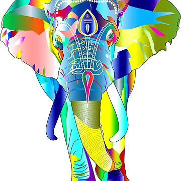 Colorful elephant by NadjaDesigns