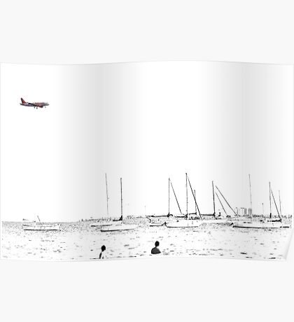 Landing on a bright and sunny day Poster