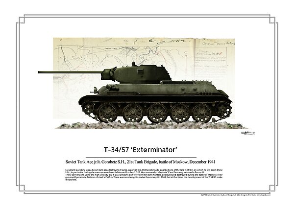 T34/57 Exterminator - tank ace Lt. Gorobetz, battle of Moskow