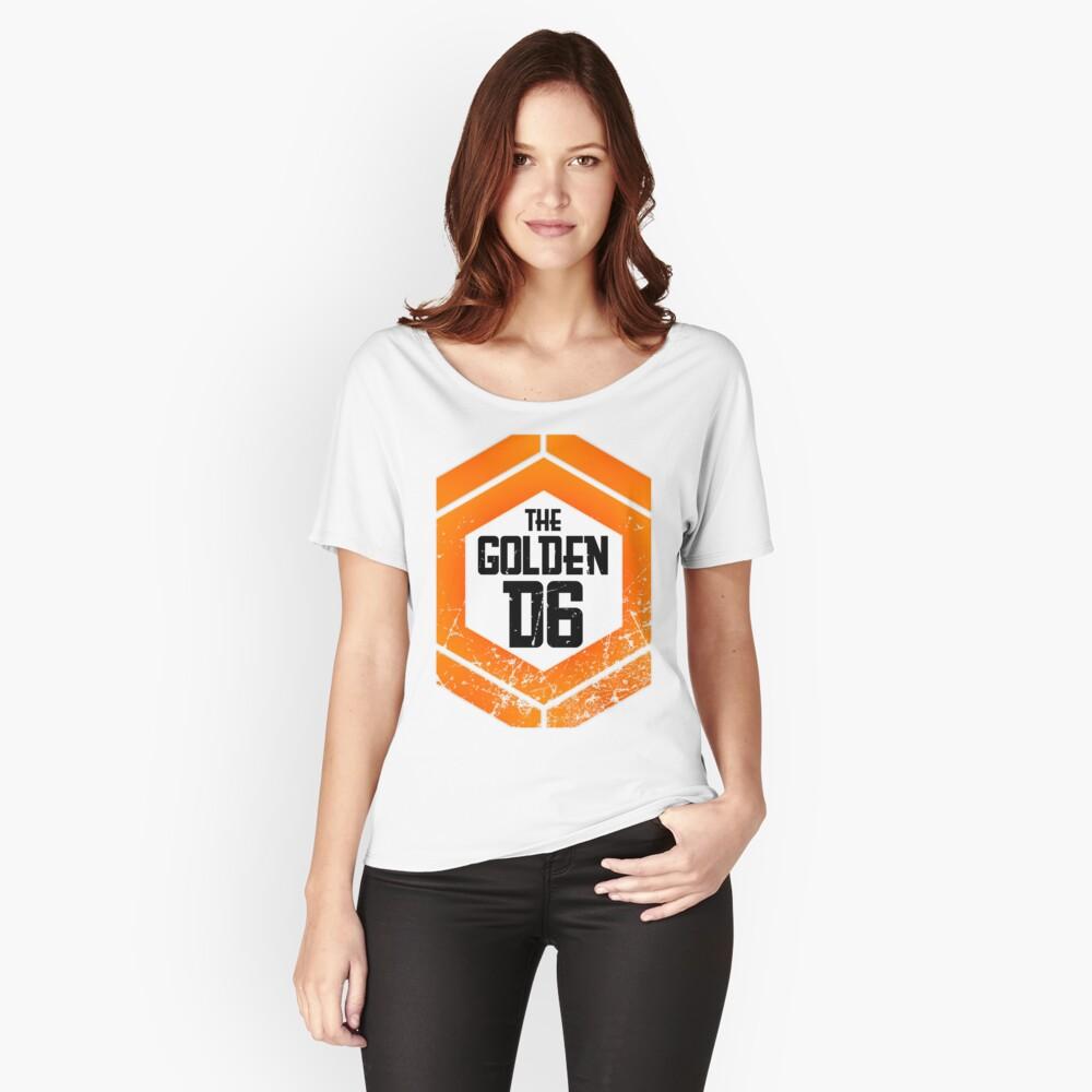 The official Golden D6 merchandise shop Women's Relaxed Fit T-Shirt Front