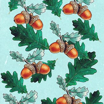 Pattern with acorns and leaves by C4Dart