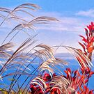 A Glimpse Of The Ocean Through Grasses - Impressions by Susie Peek