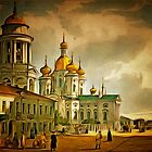 Our Lady of Vladimir Church is an Orthodox Church, 20 Vladimirsky Prospect, St. Petersburg, Russia 1761 by Dennis Melling