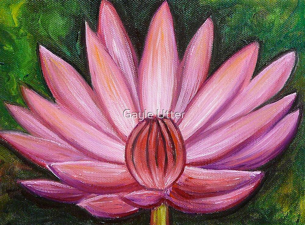 Pink Lotus Flower by Gayle Utter