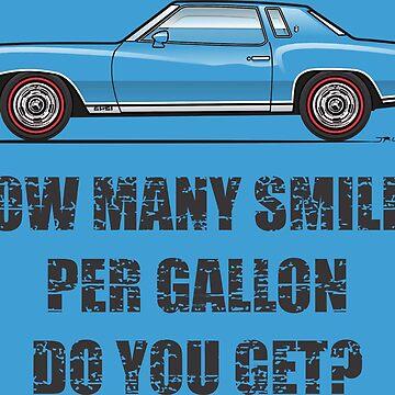 1973-1974 Smiles per Gallon MUlti-Color-Body Option Apparell by JRLacerda