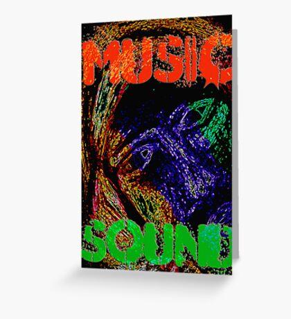 Music Sound Greeting Card