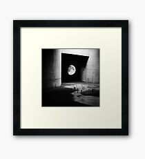 To the Moon Framed Print