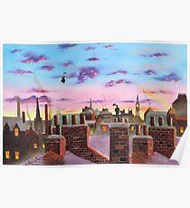 Mary Poppins und Bert Poster