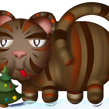 Christmas cat by markdalderup