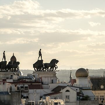 Quadrigas Warriors and Rooftops - a Triumphal Ride over Marvelous Madrid by GeorgiaM